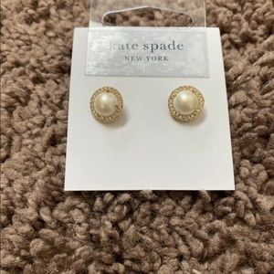 Kate Spade Pave Pearl Earrings Gold Bright Ideas